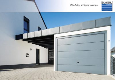 Bangerl Betonfertiggarage - Einzelgarage Klassik mit Sektionaltor anthrazit