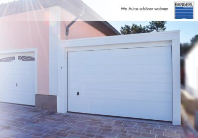 Bangerl Betonfertiggarage - Einzelgarage Exklusiv mit Sektionaltor und Dachranddesign