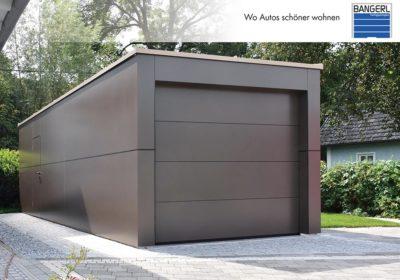 Bangerl Betonfertiggarage - Einzelgarage Exklusiv mit Sektionaltor und Designverkleidung