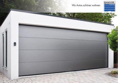Bangerl Betonfertiggarage - Premium Garage mit Premiumtor, Dachranddesign und seitlichen Lichtbändern