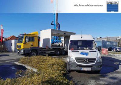 Zu sehen sind Einzel- und Doppelgarage sowie die Bangerl Premium Großraumgarage