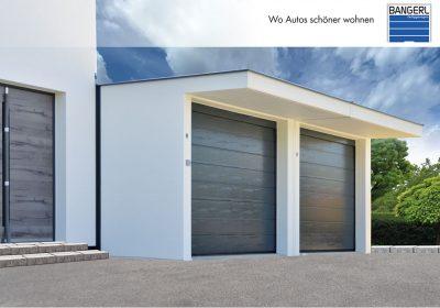 Zu sehen ist eine Doppelgarage Exklusiv mit integriertem Vordach.